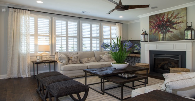 Interior Shutters in Raleigh Living Room