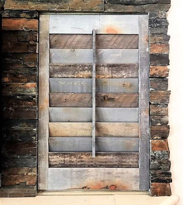 Raleigh recycled wood shutter