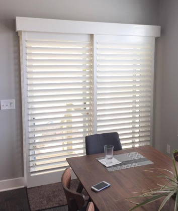 Raleigh bypass sliding door shutters