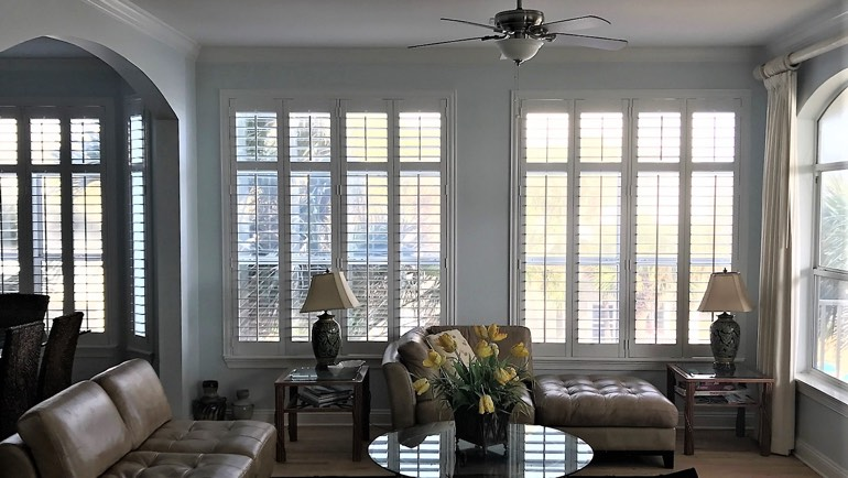Raleigh living room shutters