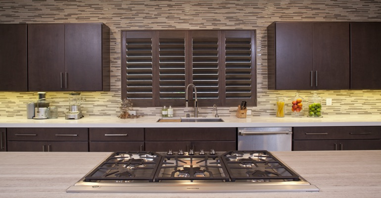 Raleigh wood shutter kitchen