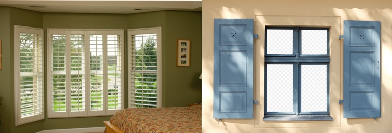 Raleigh North Carolina outdoor and indoor shutters