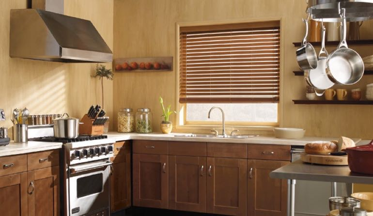 North Carolina faux wood blinds kitchen