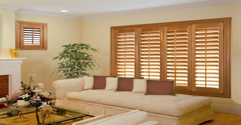 wood shutters Raleigh lounge