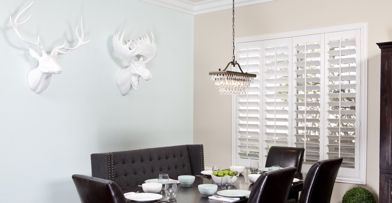 Raleigh dining room shutters