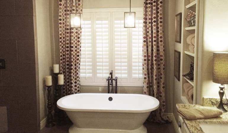 Polywood Shutters in Raleigh Bathroom
