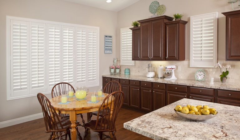 Polywood Shutters in Raleigh kitchen