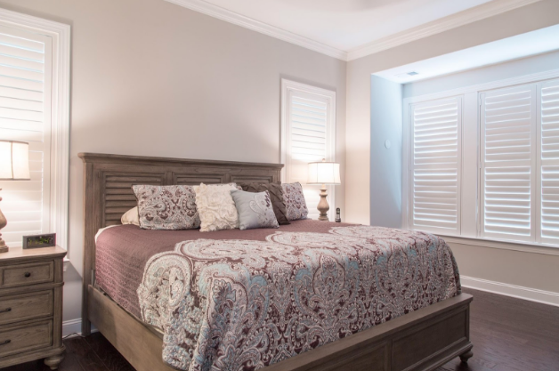 Raleigh bedroom with light block shutters
