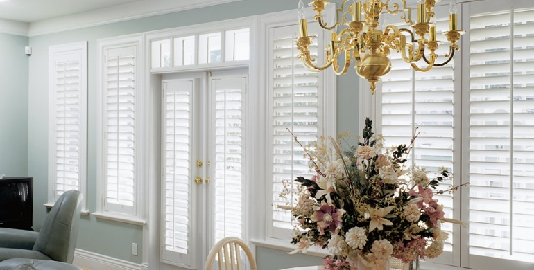 Raleigh sunroom polywood shutters