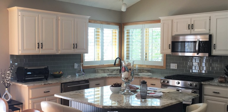 Raleigh kitchen with shutters and appliances