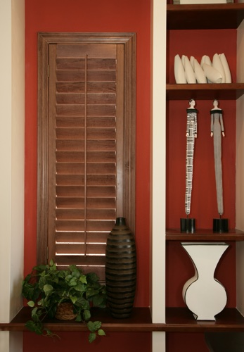 Raleigh wood shutter shelving