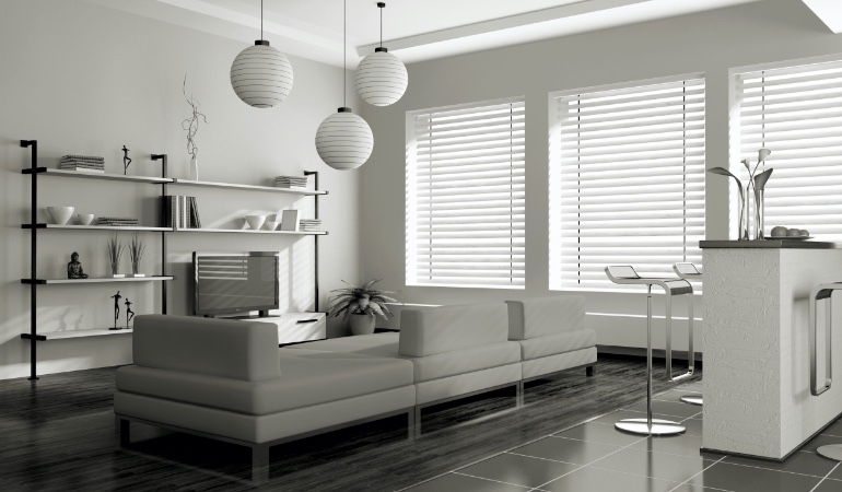 white blinds in Raleigh