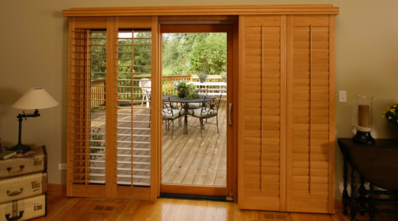 Sliding Glass Door Shutter In Raleigh