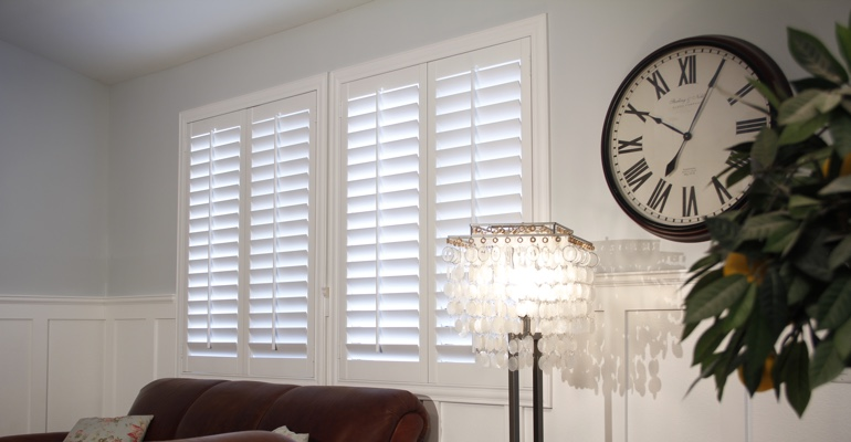 Raleigh living room interior shutters