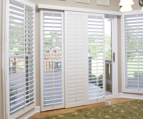 North Carolina patio door shutters