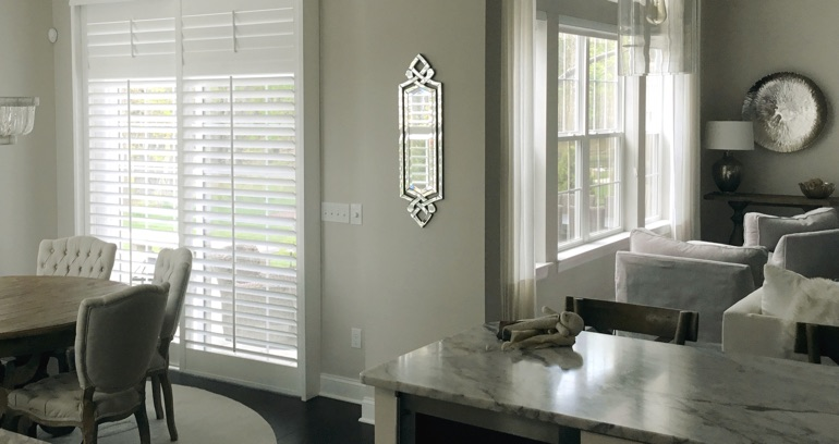 Raleigh kitchen sliding door shutters