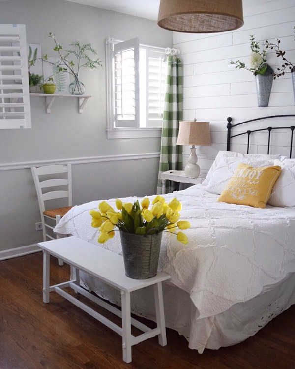 Raleigh cottage bedroom shutters