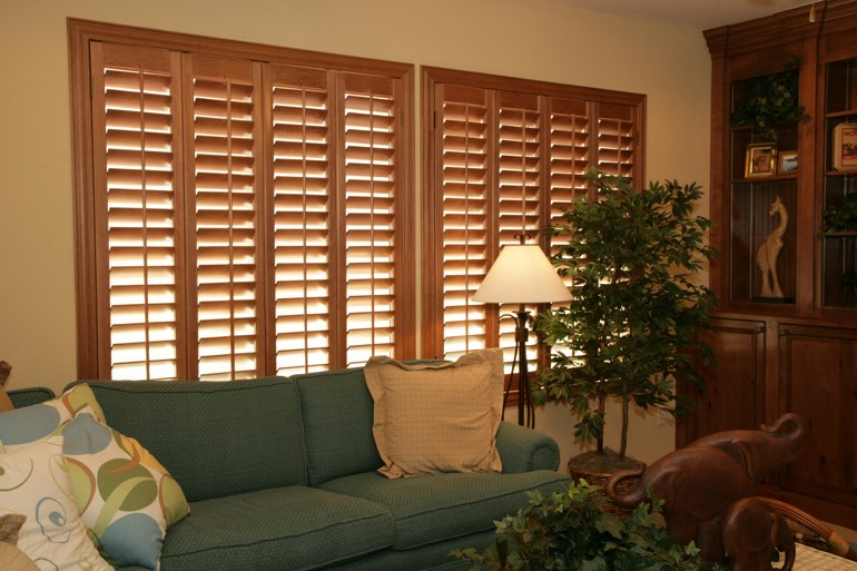 Ovation Shutters In A Raleigh Living Room.