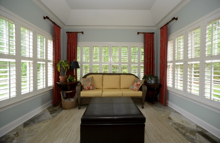 Plantation Shutters In A Raleigh Sunroom